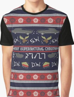Merry Supernatural Christmas Graphic T-Shirt