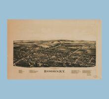 Panoramic Maps Rhinebeck NY Baby Tee