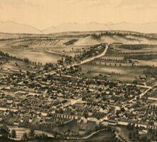 Panoramic Maps Rhinebeck NY Sticker