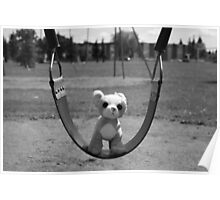 Dog on Swing Poster