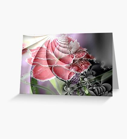 Carnation Abstract Greeting Card