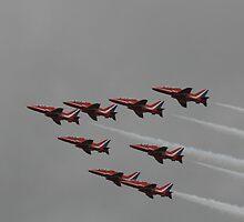 R.A.F Red Arrows by Darrenadie