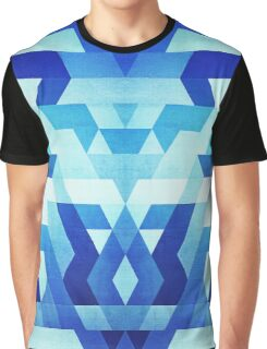 Abstract geometric triangle pattern (futuristic future symmetry) in ice blue Graphic T-Shirt