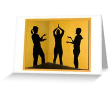 Stage on the wall Greeting Card
