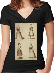 Fancy dresses described or What to wear at fancy balls by Ardern Holt 282 Yenetian Vivandiere Vandyke Women's Fitted V-Neck T-Shirt