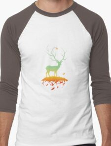 Fawn and Flora Men's Baseball ¾ T-Shirt