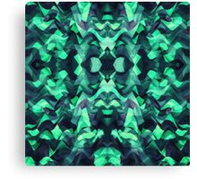 Abstract Surreal Chaos theory in Modern poison turquoise green Canvas Print