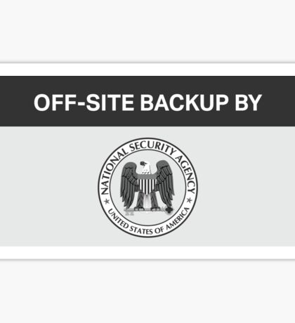 NSA - Off-Site Backup Sticker