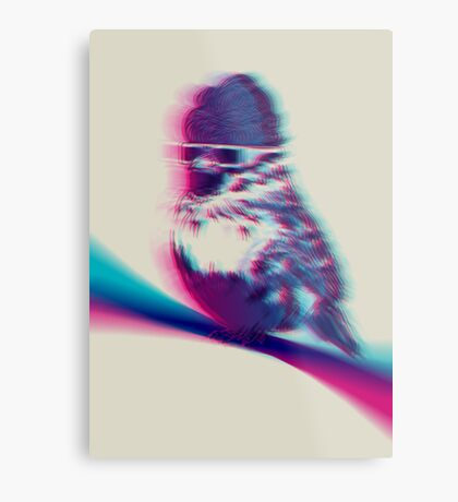 Bird Hair Day Metal Print