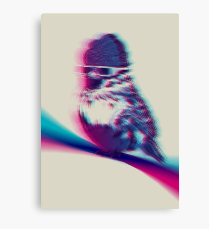 Bird Hair Day Canvas Print