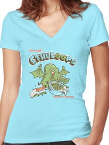 Cthuloops (Original)  Women's Fitted V-Neck T-Shirt