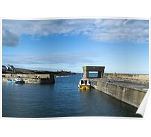 Craster Harbour. Poster