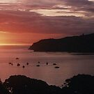 Sunset over Tryphena, Great Barrier Island........! by Roy  Massicks