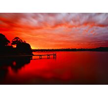 Red Glow Photographic Print