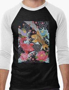 Japanese Koi Men's Baseball ¾ T-Shirt