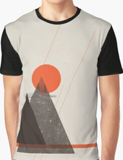 Abstract Landscape Graphic T-Shirt