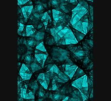 Fractal art black and turquoise Unisex T-Shirt