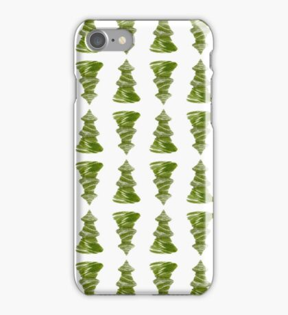 Dainty little christmas trees iPhone Case/Skin