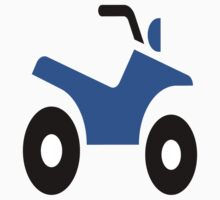 Blue Quad Bike One Piece - Short Sleeve