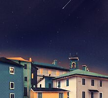 Castles at Night by schwebewesen