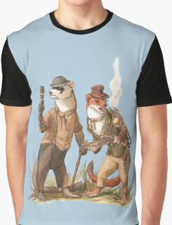 Steampunk Weasels Graphic T-Shirt