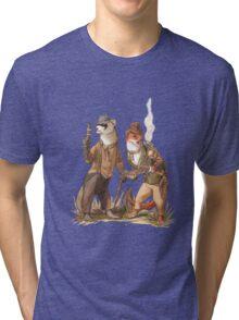 Steampunk Weasels Tri-blend T-Shirt
