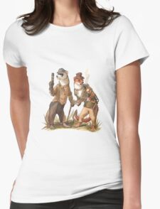 Steampunk Weasels Womens Fitted T-Shirt