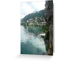 Village by the Lake Greeting Card