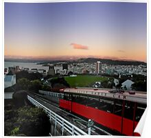 Wellington Cable Car Sunset Poster