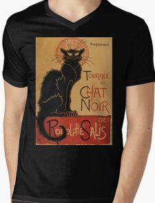 Théophile Alexandre Steinlen Tournée du Chat Noir de Rodolphe Salis Tour of Rodolphe Salis' Chat Noir Mens V-Neck T-Shirt