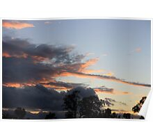 Winter Sunset in Brisbane Poster