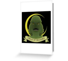 I Dream of Creatures Greeting Card