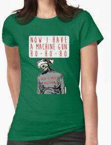 Ho-Ho-Ho Die Hard Christmas Womens Fitted T-Shirt