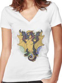 Heraldry Erosion Women's Fitted V-Neck T-Shirt