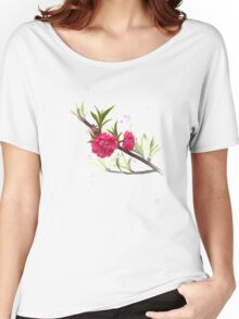 Pink flowers, watercolros Women's Relaxed Fit T-Shirt
