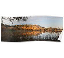 Golden Murray River Cliffs. Poster