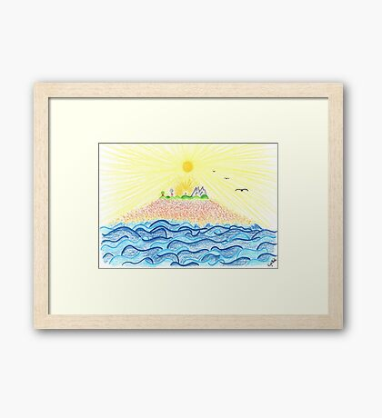 0804 - Creation on Earth Framed Print