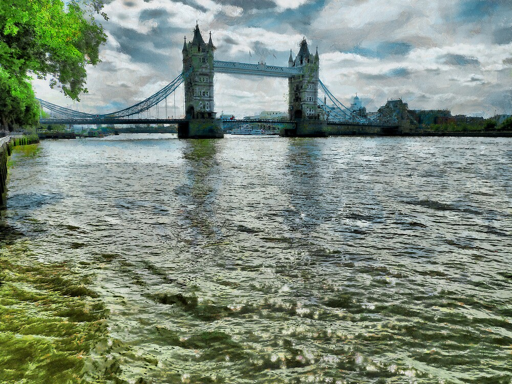 Tower Bridge and the Thames River by PictureNZ