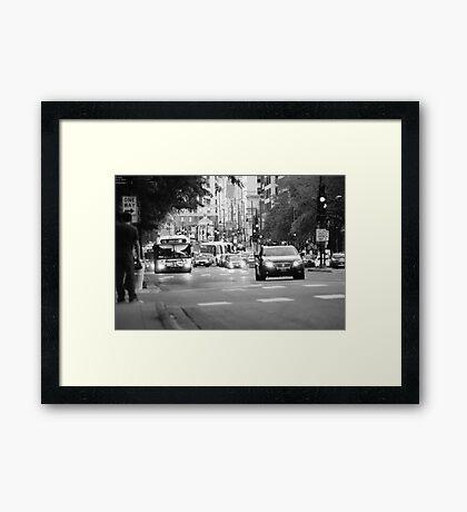 Street Buses Framed Print