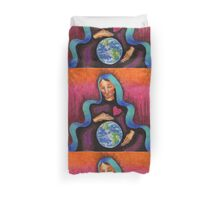 Earth Mother Mary Duvet Cover