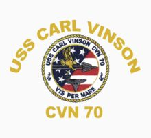 USS Carl Vinson (CVN-70) Crest for Dark Colors One Piece - Long Sleeve