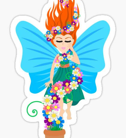Floating in Flowers Sticker