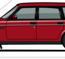 Volvo 245 Brick Wagon 200 Series Red Sticker