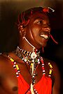 Moran Portrait, Maasai, or Masai, of Kenya & Tanzania  by Carole-Anne