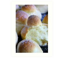Mes Brioches Plaisirs du Weekend Art Print