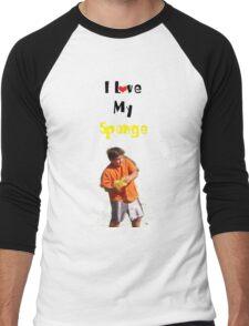 I Love My Sponge Men's Baseball ¾ T-Shirt