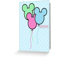 But Mickey Balloons. Greeting Card