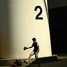 2, game day. mcg, melbourne. by tim buckley | bodhiimages