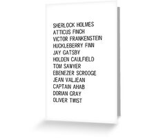 Classic Heroes Greeting Card