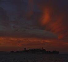 Fire over Alcatraz by fototaker